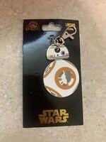 Disney Parks Star Wars BB-8 Droid Lanyard Medal Spinner Force Awakens NEW