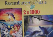 NEW 2000-pce RAVENSBURGER 2-in-1 Puzzle 1000-pcs ea FANTASTIC WATERWORLD Sealed