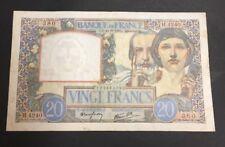 FRANCE  20 FRANCS SCIENCE ET TRAVAIL de 1941  ETAT : TTB  Réf. H 4240