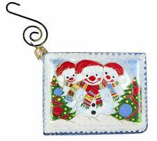 Handmade Polish Glass Postcard Christmas Ornament Holiday Decoration