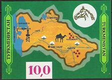TURKMENISTAN, Sc #9, MNH, 1992, S/S, Map, Camel, Oil Rig, 1118