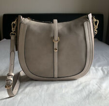 Accessorize Ladies Leather Tatiana Hobo Bag - Nude