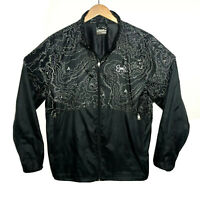 Under Armour Run Vented Lined Full Zip Windbreaker XL Mens Topo Map Reflective