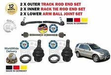 Pour mercedes ml 1998 - > 2x inner & 2x outer track rack rod tie end + ball joints