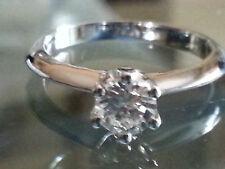 Anello Solitario mod Tiffany oro 18 carati, diamante 0,27 ct - offerta