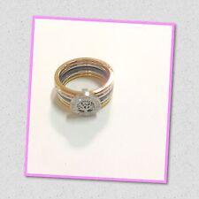 Anello Albero della Vita con 5 fedi colore oro rame argento18 mm Idea regalo