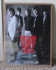 Rare 2002 The Rolling Stones Poster Forty Licks Shrink Wrapped Rare X-Mas