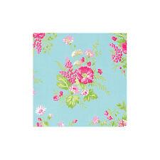SMALL REMNANT FreeSpirit  Wild Flower Cotton Fabric - JADE - Approx 114cm x 0.4M