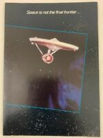 Star Trek TOS 1985 Greeting Card USS Enterprise Vintage
