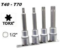 SET 4 CHIAVI A BUSSOLA TORX GRANDI T40 - T70 CON ATTACCO DA 1/2 CHROME VANADIUM