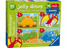 Ravensburger 2 3 4 5 pc Jolly Dinos My First 4 Chunky Jigsaw Puzzle RB07289-7