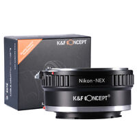 K&F Concept Adapter for Nikon AI AIS F Lens to Sony E-Mount Camera a7R2 A7M3 A7S