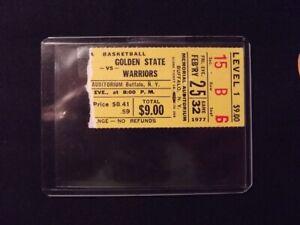 Feb 25 1977 Buffalo Braves vs Golden State Ticket Stub NBA Memorial Aud NY NBA