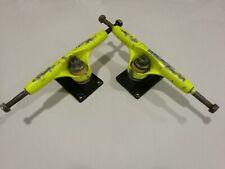 2 x Vintage Variflex Yellow Skateboard trucks - EJES SKATE - MONOPATIN