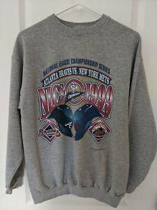VTG Atlanta Braves 1999 World Series National League Champions Sweatshirt Medium