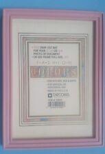 Estate Vintage Decorel Pink Plastic Photo Frame 3 1/2 x 5 or 4 x 6 or 5 x 7 -New