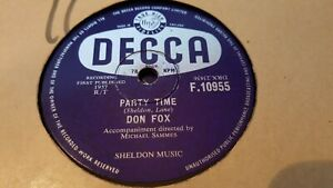 DON FOX PARTY TIME & THE MAJESTY OF LOVE DECCA F10955