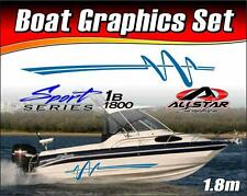 Boat Graphic Sticker Kit, Vinyl stripe decal for Marine or Automotive. SS_1B1800