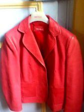 Veste  APRIORI (Escada) Veste de  luxe en cuir  épais gaufré  Taille 42