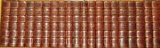 LEATHER Set;Works of EUGENE SUE!ANTIQUARIAN English COMPLETE(LIMITED 1/1000)RARE