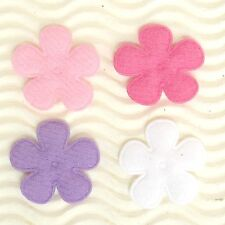 "US SELLER - 80 pcs x 1"" Padded Felt Spring Flower Appliques for Bows/Card ST628A"
