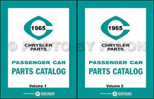 1965 Chrysler Master Parts Book Catalog Imperial New Yorker 300 300L Newport 65