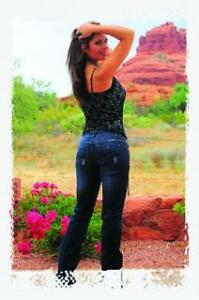 Cowgirl Tuff Dark Wash Diva Jeans with Black Stitching on Back Pockets