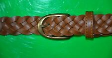 1 BELT BRAIDED LEATHER SIZE# XL  MADE IN USA FREE SHIPPING #18