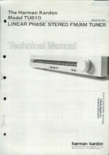 Rare Factory Harman Kardon TU610 AM/FM Stereo Tuner Technical/Service Manual