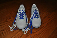 NWOB!! Mens ADIDAS White/Blue Leather Tennis Shoes Size 7.5 M
