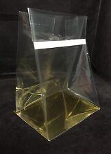 250 x Gold Block Bottom 140x120x200mm  BOPP bag reseal cellophane alt - BB111
