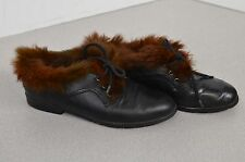 Tamaris Women's Fur Lined Shoes Size 36 Europe Size 6 US Brazil Leather Lace Up