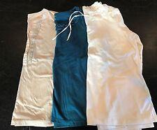 Lands End LOT of 3 Women's Ruffle Neck Long Sleeve Shirts Size M 10-12 Cotton