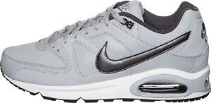 Scarpe sportive uomo NIKE Air Max Command in pelle grigio e nero 749760-012