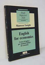 Enright,ENGLISH FOR ECONOMICS,1987 NIS[CORSO DI INGLESE,STUDENTI ECONOMIA