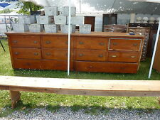 """c1910-20 BUILT in PANTRY cabinet COUNTER multi drawer Heart pine 11' x 41"""" x 25"""""""