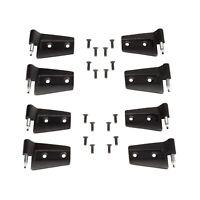 Rampage 87641 Black Door Hinges Black Set of 4 fits 07-10 Wrangler JK 2-DR//4-DR