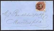 QV sg 57  die 3  10d embossed on letter sheet to Macclesfield from London 1853