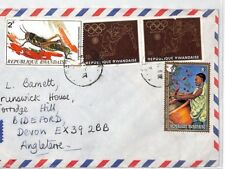 BT47 Rwanda Olympic Stamp Commercial Air Mail Cover {samwells}PTS