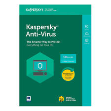 Kaspersky Anti-Virus 2018 For 3 PC Devices / 1 year Product Key Code