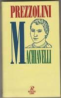 Machiavelli - G.Prezzolini - Libro nuovo in offerta !