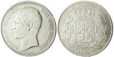 BELGIQUE  LEOPOLD  I°  ,  5  FRANCS  ARGENT  TETE  NUE  1849
