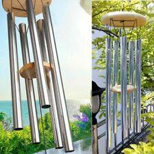 "25.5"" Wind Chimes Large Tone Resonant Bell 6 Tubes Chapel Church Garden Decor"