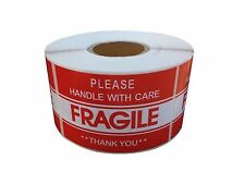 2 x 3 FRAGILE HANDLE WITH CARE Stickers Thank you  #QS23
