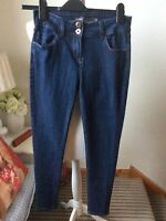 "NEXT Blue Skinny Fit Jeans Denim Size UK 8 Regular L28"" Trousers Slim"