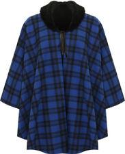 Cappotti e giacche da donna blu con Fantasia Scacchi, quadretti
