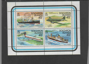 SOLOMON ISLANDS #425  1980 LONDON '80 STAMP EXIBITION    MINT VF NH O.G SHEET