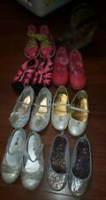 Lot 8 Toddler Girl's Size 11 Reebok Sequins Boots Dress Shoes Sandals Sneakers