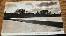 1954 Postcard Sunset on the Fox River St. Charles, Illinois IL