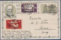 1919 - Svizzera - Cartolina postale viaggiata con affrancatura multipla